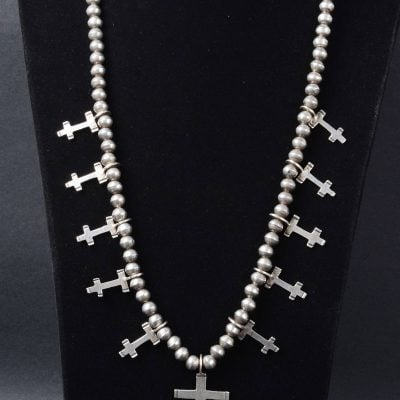 Double Bar Cross Necklace Isleta