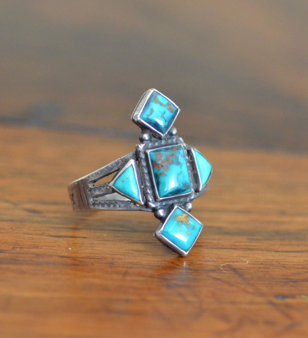 Blue Gem Ring