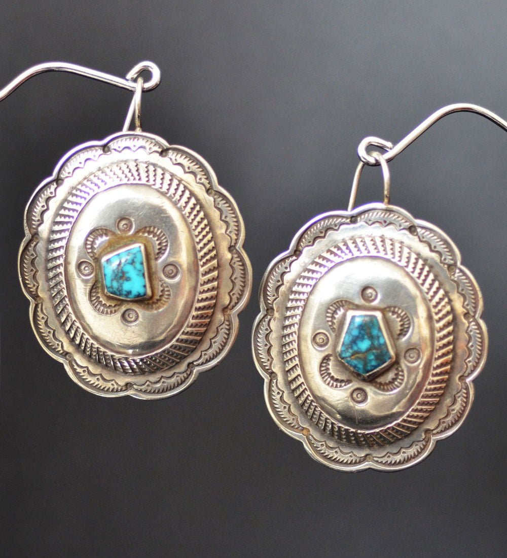 Large Vintage Button EarringsLarge Vintage Button Earrings