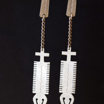 Plains Indian Crayfish earrings