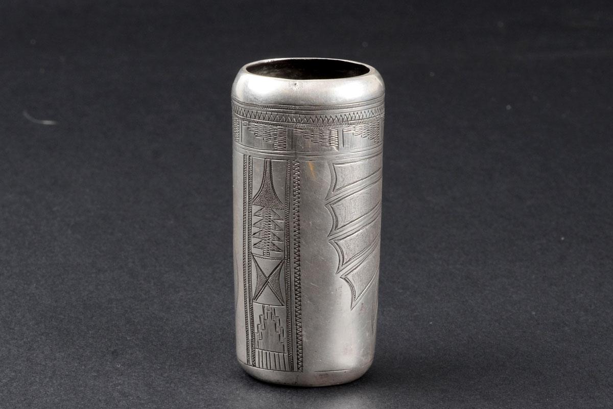 Silver Hopi Vase Attributable to Eddy Nequatewa