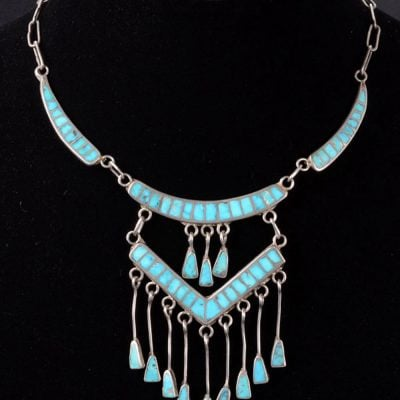 Zuni Channel Inlay Necklace