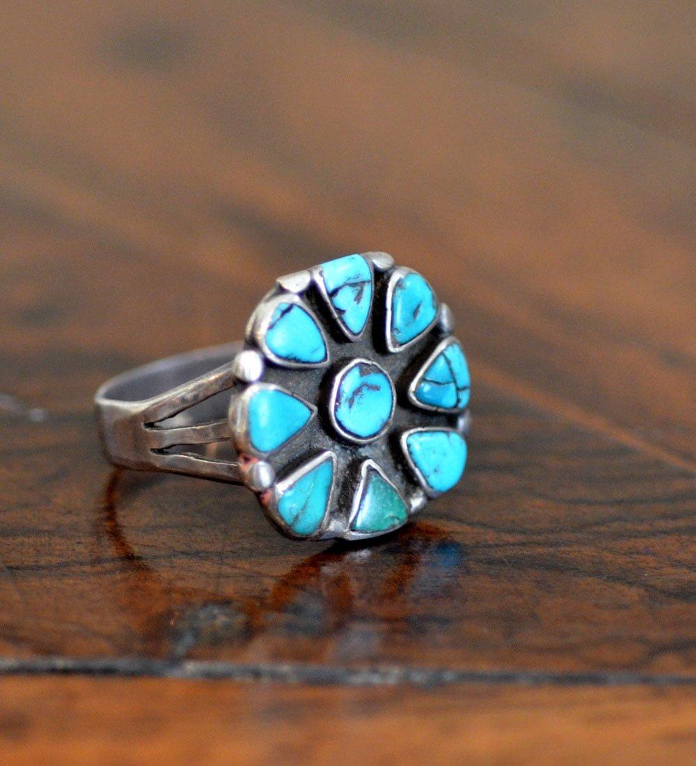 c. 1930s Navajo Cluster ring