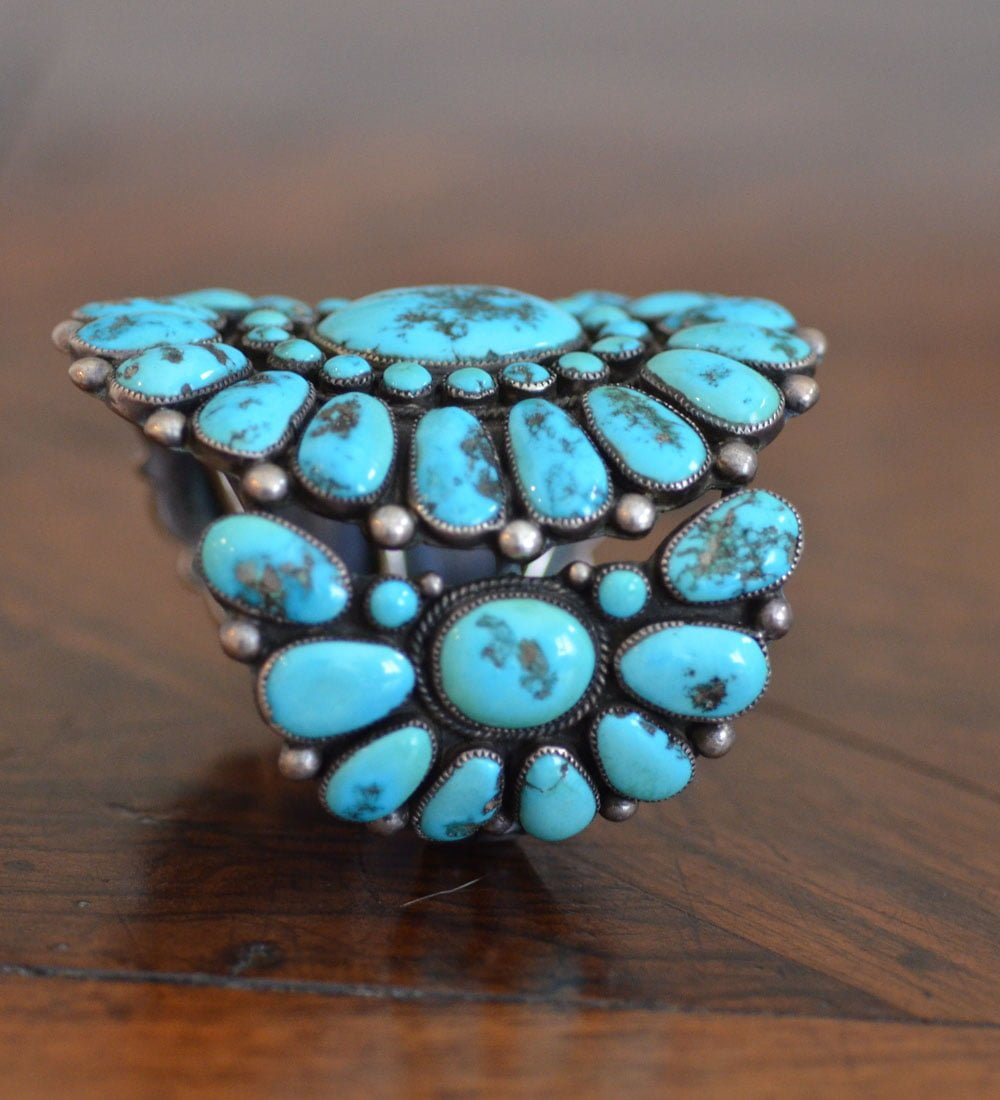 Huge Turquoise Cluster Cuff