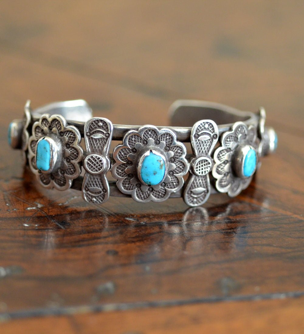 Heavily stamped Row Cuff
