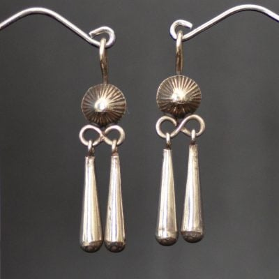 Navajo Silver Drop Earrings