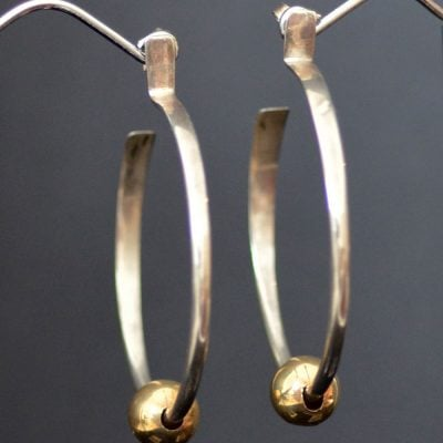 Eddison Cummings silver & gold hoops
