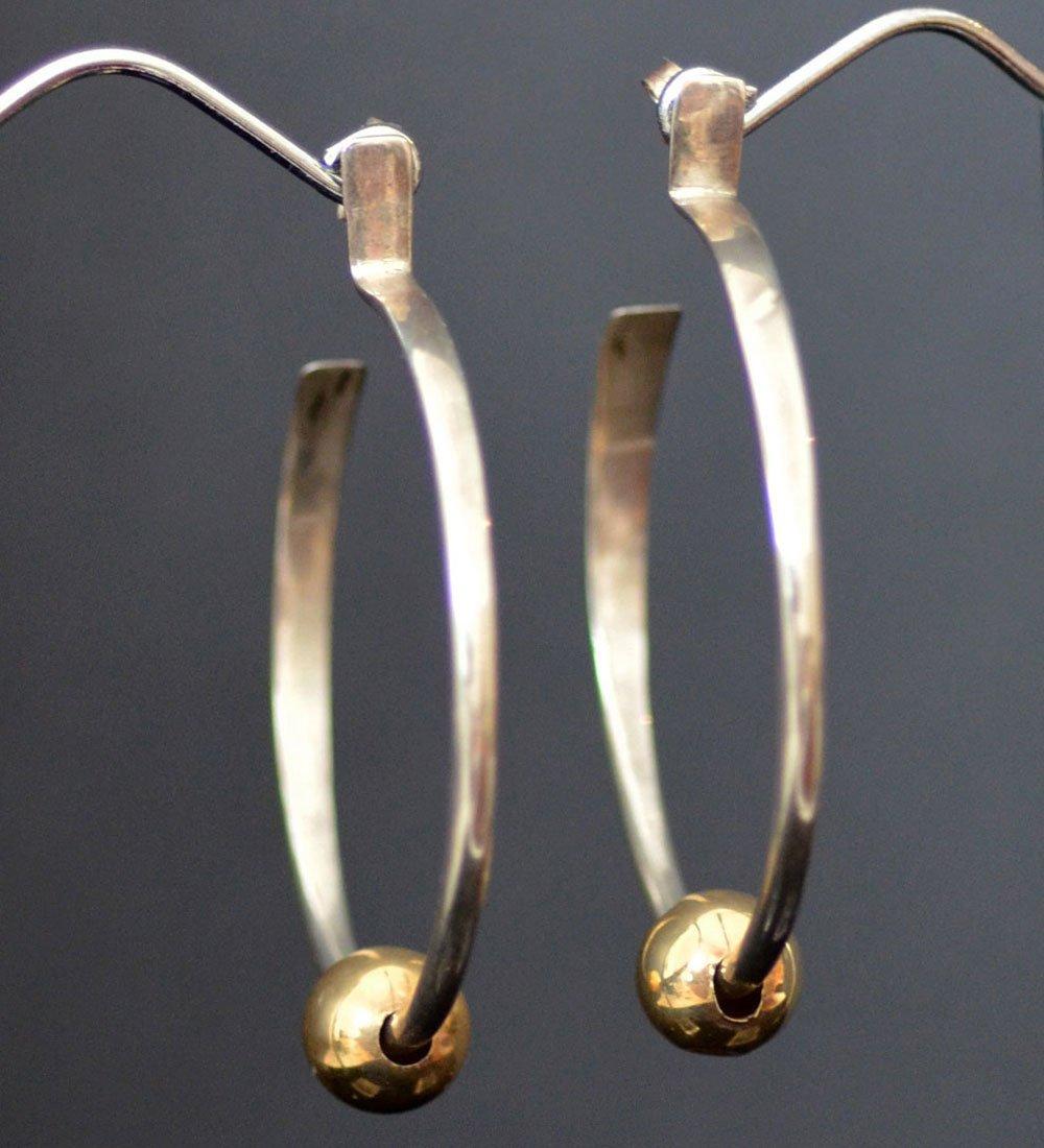 Eddison Cummings silver & gold hoops