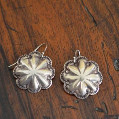 Silversmith Button Earrings