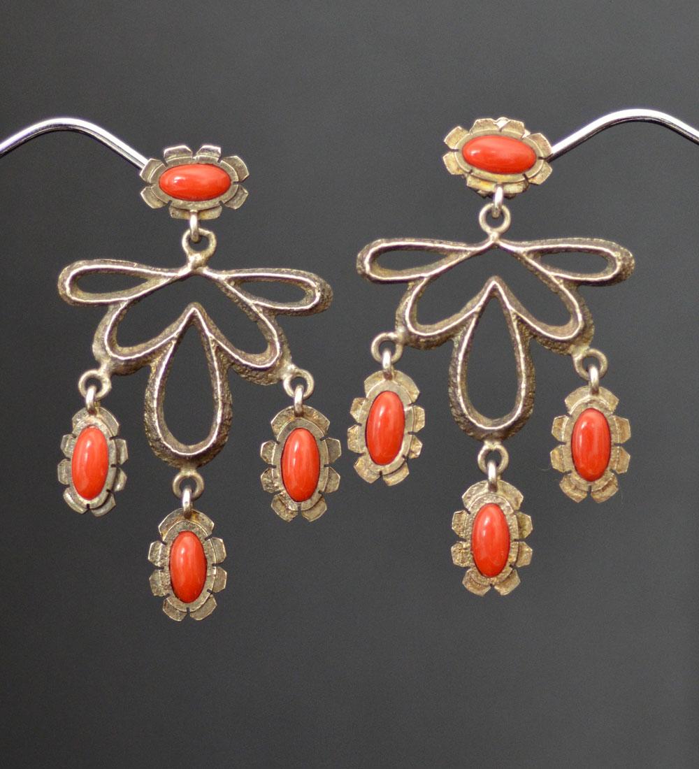 Lorenzo Shirley cast & coral earrings