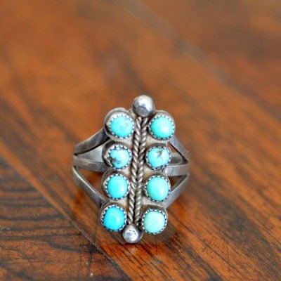 8 stone Navajo Ring
