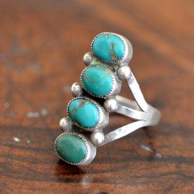 4 stone Navajo Ring