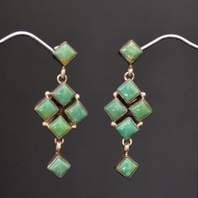 Contemporary Green Earrings