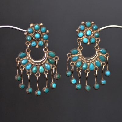 Cluster Button Chandelaier Earrings