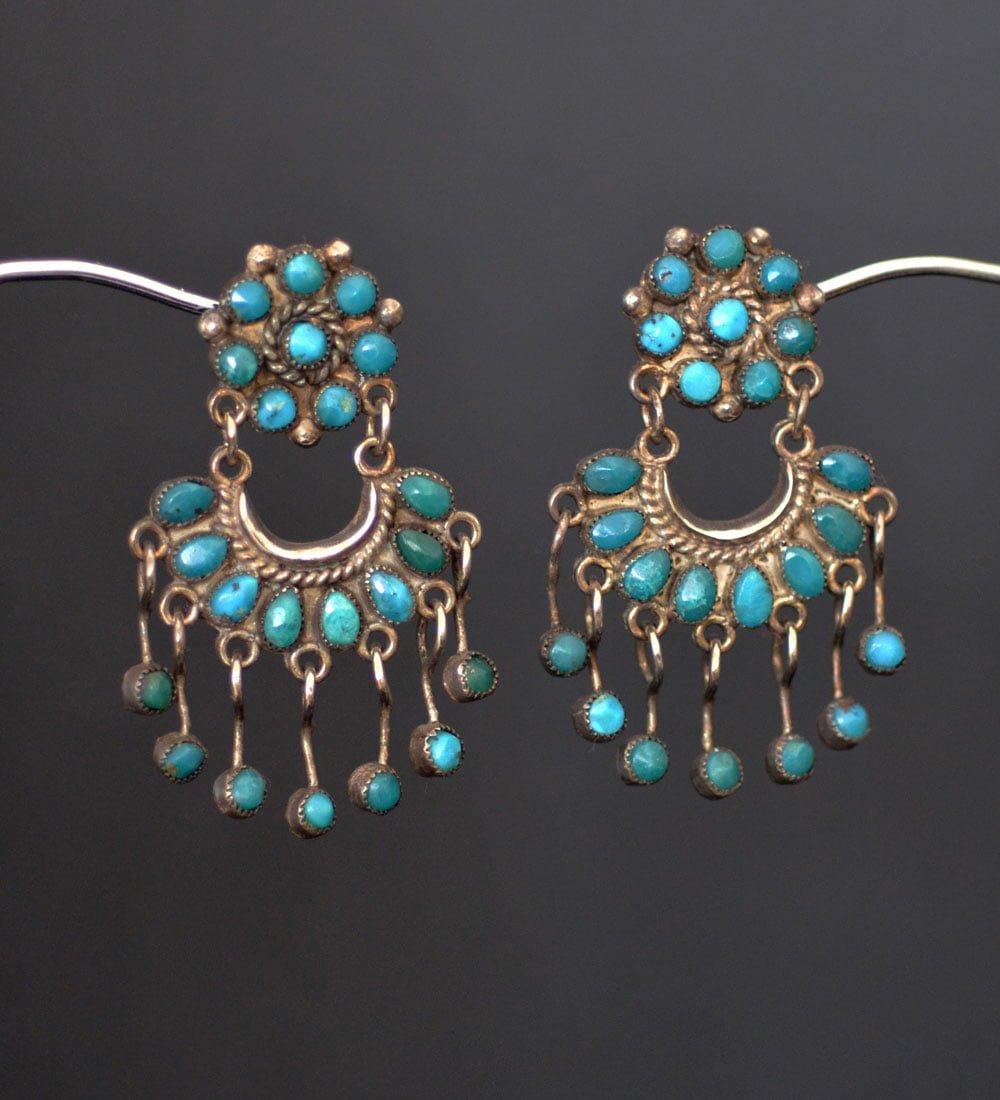 Cluster Button Chandelaier Earrings