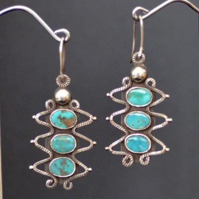 Ernie Lister Blue Gem earrings