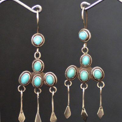Vintage 5 stone Chandelier Earrings