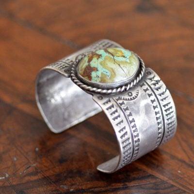 Circa 1020's Roystone turquoise Cuff