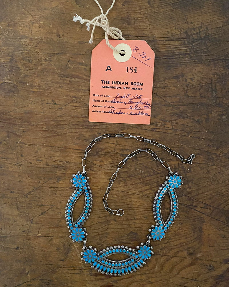 Zuni Frank Dishta Turquoise Necklace