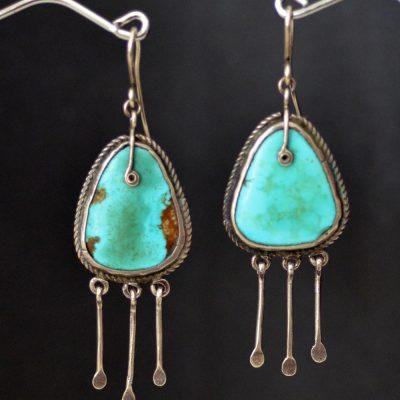 Circa 1915-20 Navajo Earrings