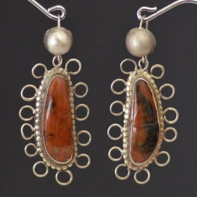 Isleta Petrified Wood earrings