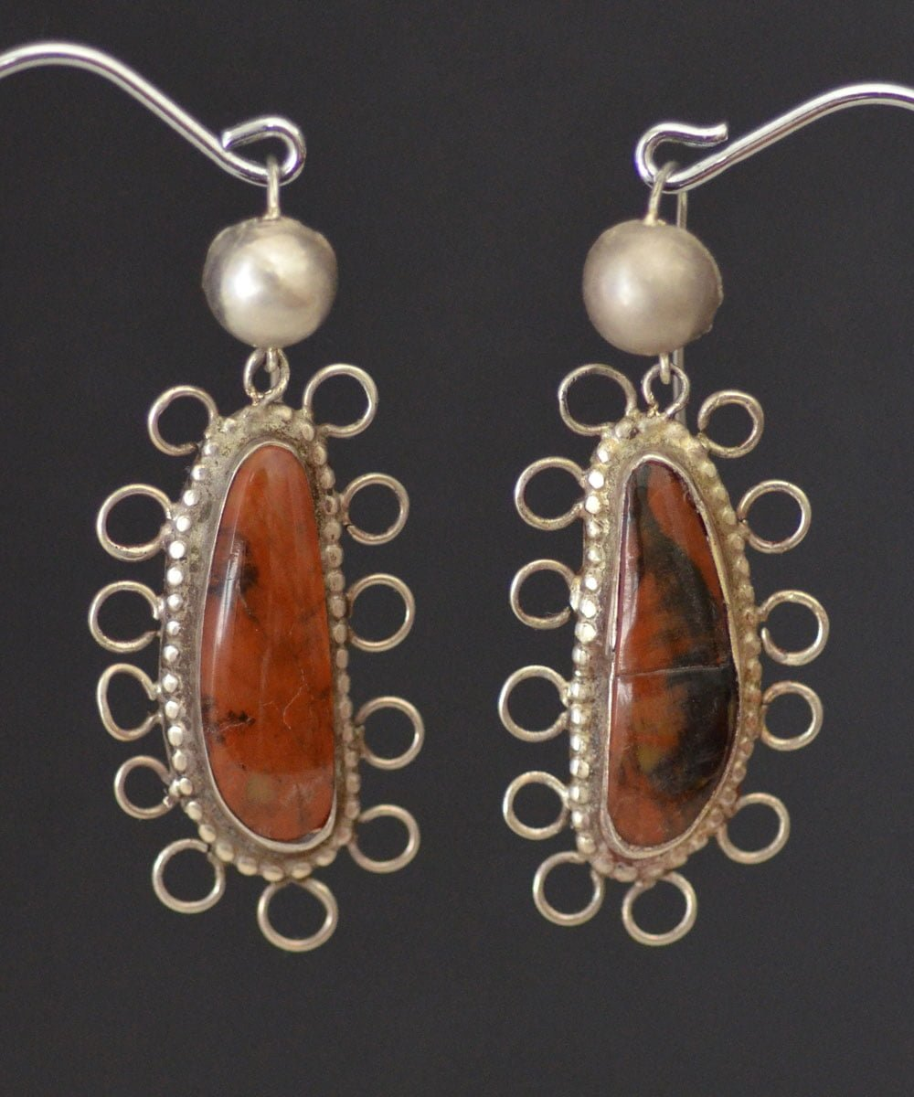 Isleta Petrified Wood earrings