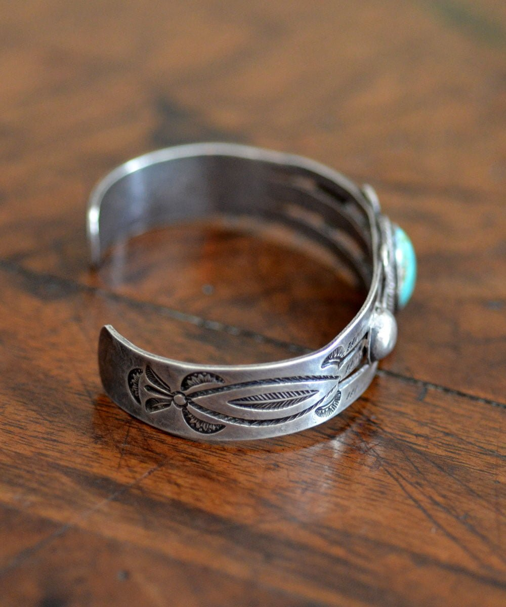 Navajo Cuff With Spiral Designs