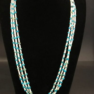 Blue Gem Turquoise Heishi Necklace