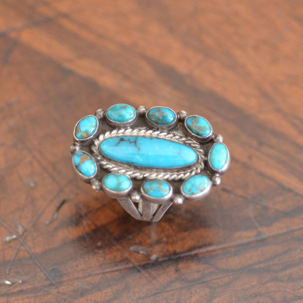 Vintage Navajo Turquoise & Silver Ring
