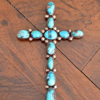Bisbee Turquoise Cross Pendant