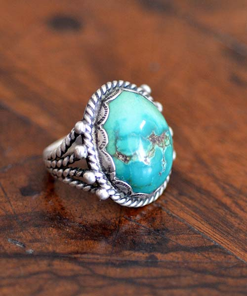 Navajo Fox Turquoise Ring