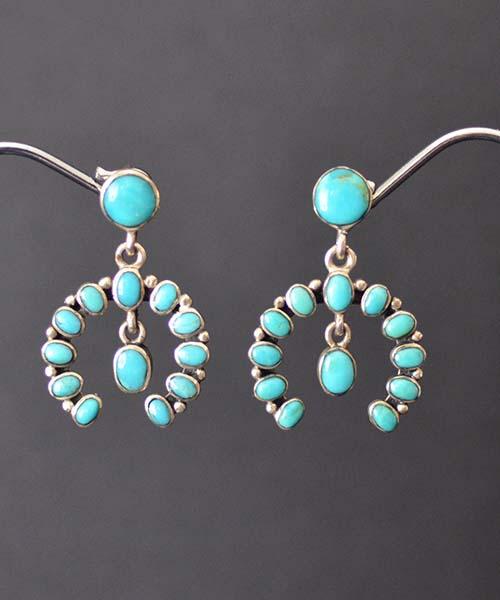 Turquoise Naja style Earrings