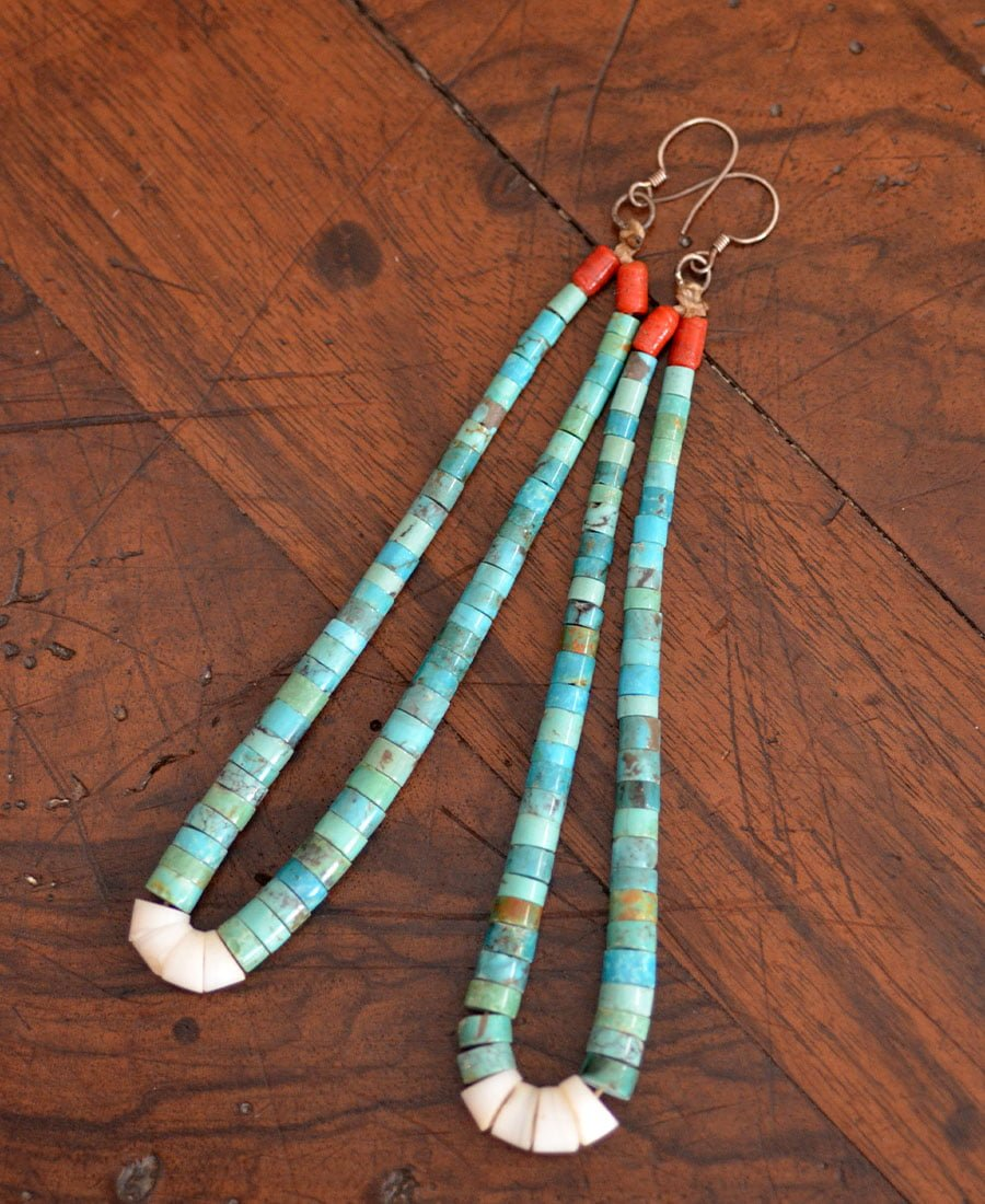 Turquoise Jaw Claw Earrings