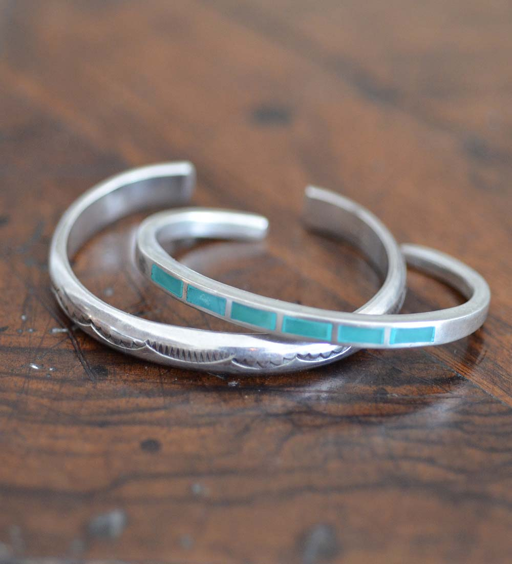 Turquoise Channel Inlaid Bracelet