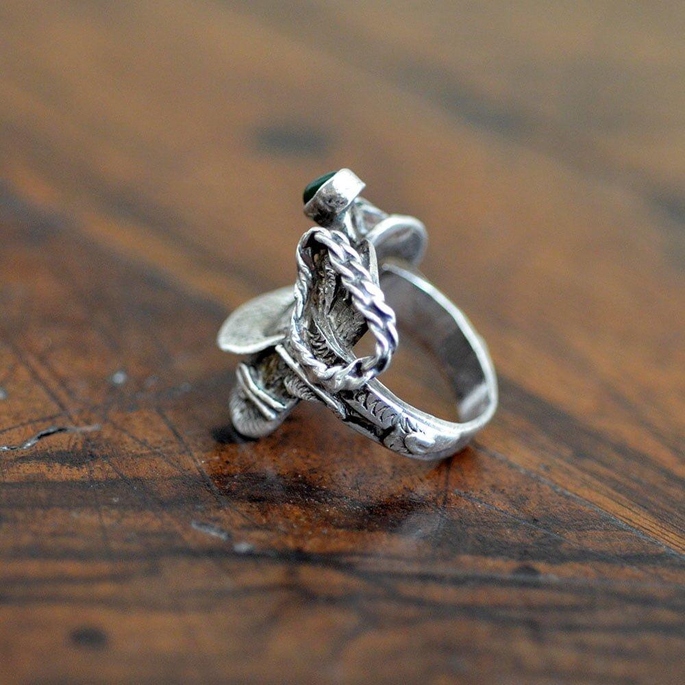 Navajo Silver Saddle Ring