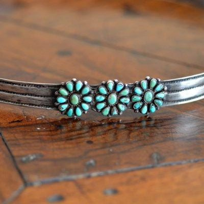 Hat Band With Turquoise Clusters