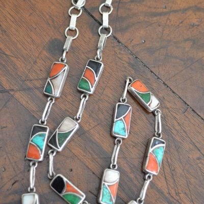 Native American Channel Inlaid Necklace