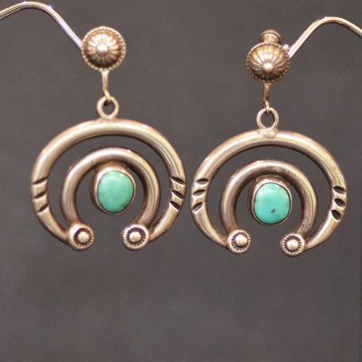 Silver & Turquoise Naja Earrings