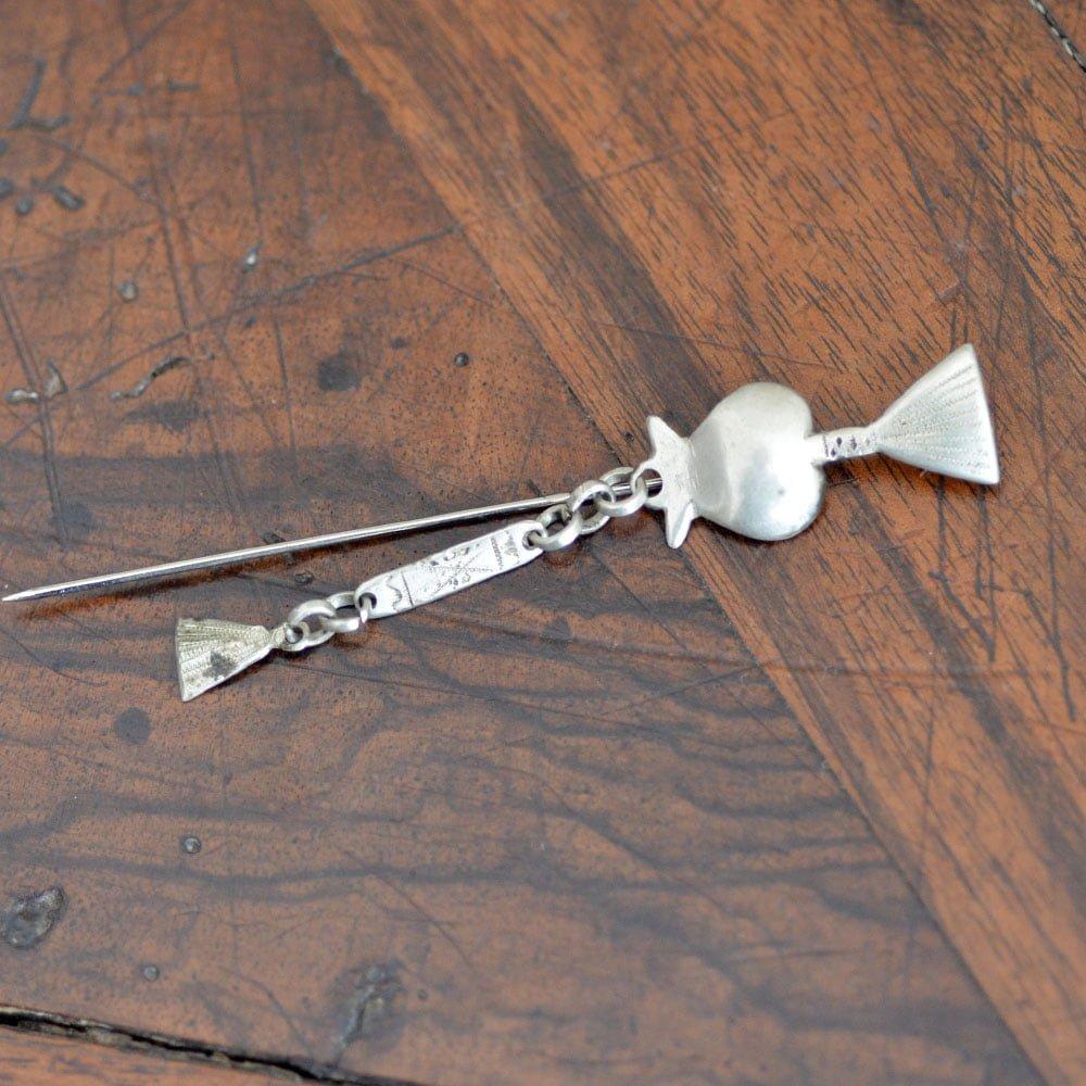 Circa 1930 Kiowa Rattle Tie Pin