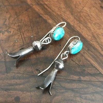 Dainty Squash Blossom Earrings