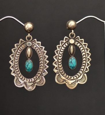 RARE Morris Talawytewa Robinson Earrings