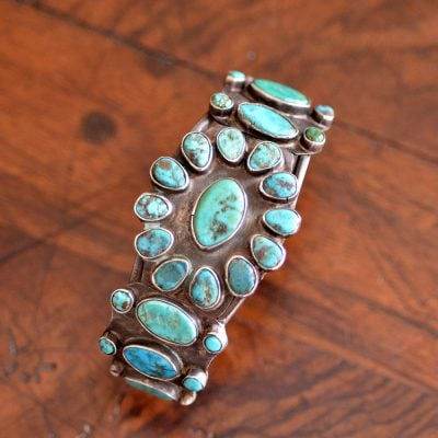 Navajo Turquoise Cluster Bracelet
