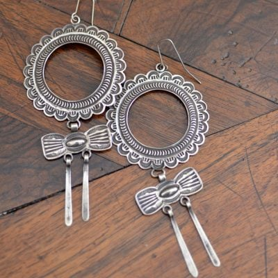 HARRY H BEGAY Silver Earrings