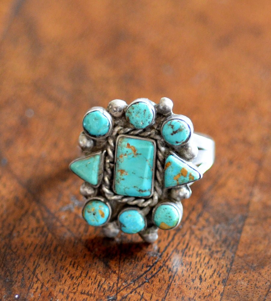 Navajo Green No 8 Turquoise Ring