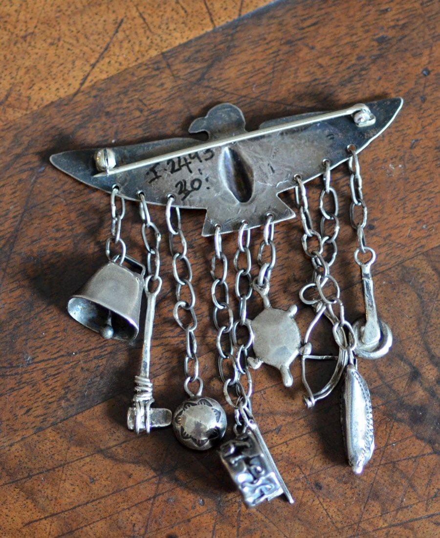 Navajo Thunderbird Charm Pin