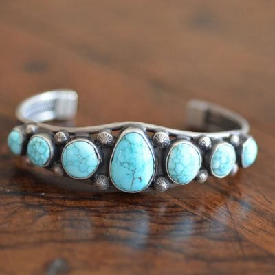 Navajo Old Pawn Row Bracelet/Cuff