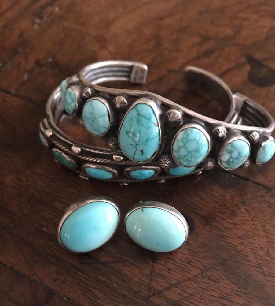Navajo Old Pawn Row Bracelet/Cuff