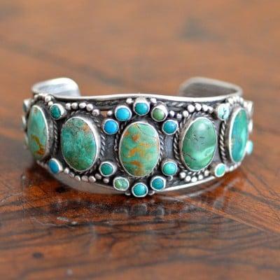 Navajo Turquoise Row Bracelet