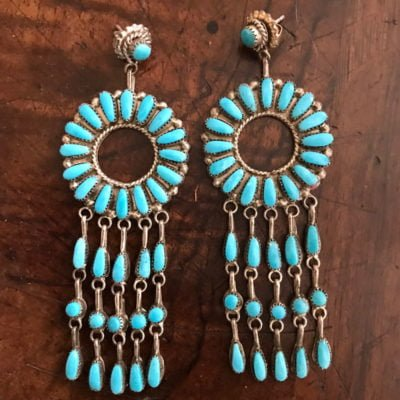 Turquoise Chandelier Earrings c.2018
