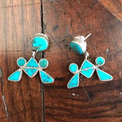 Fabulous Blue Gem Earrings